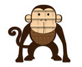 Monkey made ​​of paper Royalty Free Stock Image