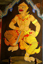 Monkey painting Ramayana Stock Image