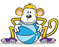 Monkey Player Royalty Free Stock Photo