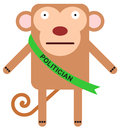 Monkey in politics a wearing a politician's sash Royalty Free Stock Photos