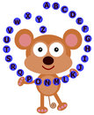 Monkey's alphabet Royalty Free Stock Photo