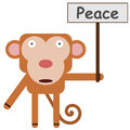 Monkey's peace Royalty Free Stock Image