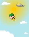 Monkey skydiving