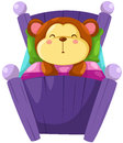 Monkey sleeping Royalty Free Stock Photos
