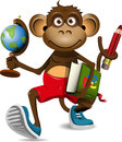 Monkey student Royalty Free Stock Images