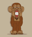 Monkey stylish vector on gray background Royalty Free Stock Photo