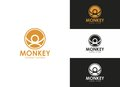 Monkey Symbol Abstract Logo Royalty Free Stock Images