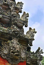 Monkey temple in bali monley forest Royalty Free Stock Image