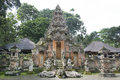 Monkey temple in bali monley forest Stock Image