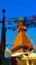 Monkey temple stupa kathmandu nepal julian bound a beautiful composition of the Stock Photography