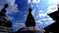 Monkey temple stupas kathmandu nepal julian bound a beautiful composition of the Royalty Free Stock Image
