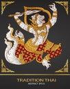 Monkey thai tradition outline