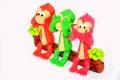 Monkey three wishes Model Royalty Free Stock Photo