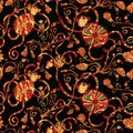 Seamless pattern with funny happy family of monkeys