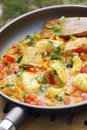 Monkfish,tuna and vegetable casserole Stock Images