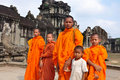 Monks in Cambodia Royalty Free Stock Photography