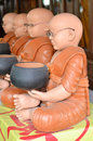Monks the craft of were sitting and holding monk s alms bowl Stock Photo