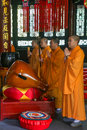 Monks reciting scriptures in daci temple chengdu china is taken Stock Photo