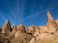 Monks valley in cappadocia turkey unusual fairy chimney rock formation near goreme Stock Images