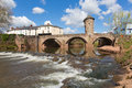Monnow monmouth bridge wales uk historic tourist attraction wye valley medieval structure in beautiful spring sunshine Stock Photos