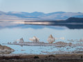 Mono lake tufa rock mysterious eastern sierra nevada range Stock Photography