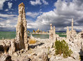 Mono lake tufa spires the unusual bizarre landscape consists of more than state reserve california Royalty Free Stock Images