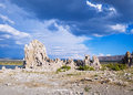 Mono lake tufa towers formations in california Stock Images