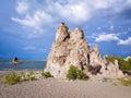 Mono lake tufa towers formations in california Stock Image