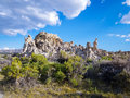Mono lake tufa towers formations in california Royalty Free Stock Photography