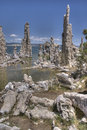 Mono lake tufas on in california Stock Photo