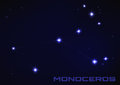 stock image of  Monoceros constellation
