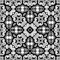 Monochorme pattern vintage decorative ornament monochrome seamless Royalty Free Stock Images