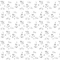 Monochrom pattern with owls