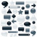 Monochromatic Web Elements Royalty Free Stock Photo