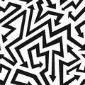 Monochrome arrows seamless pattern Royalty Free Stock Photo