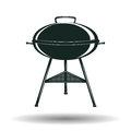 Monochrome BBQ grill sign Royalty Free Stock Photo