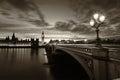 Monochrome Big Ben London Royalty Free Stock Photo