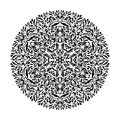 Monochrome black and white lace ornament vector Royalty Free Stock Photo