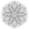 Monochrome black and white lace ornament vector Royalty Free Stock Images