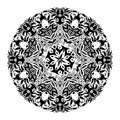 Monochrome black and white lace ornament vector Stock Photography