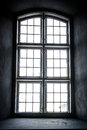Monochrome church window from inside taken old danish Stock Images