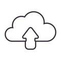 Monochrome contour with cloud upload service