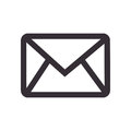 Monochrome contour with envelope mail