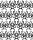 Monochrome damask wallpaper Stock Photo