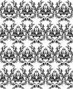 Monochrome damask wallpaper Stock Photo