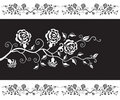 Monochrome design with roses Stock Photography
