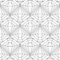 Monochrome diamond seamless pattern eps Stock Images