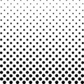 Monochrome Dots Background. Abstract Fade Backdrop. Vintage Gradient Texture. Pop-art Pattern. Vector illustration