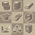 Monochrome finance icons Royalty Free Stock Images
