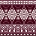 Monochrome floral seamless pattern, ethnic ornament. Border wallpaper with decorative elements. Vector clipart Royalty Free Stock Photo
